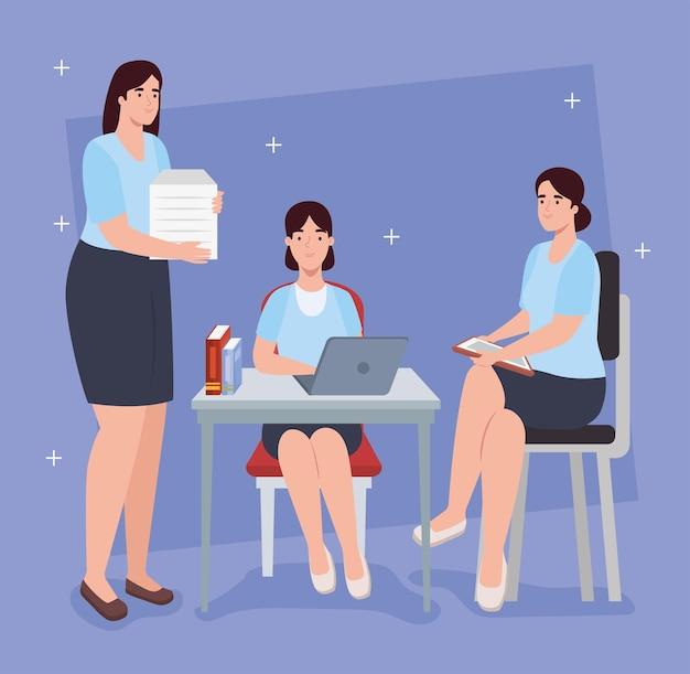 직장 사무실에서 비즈니스 여성