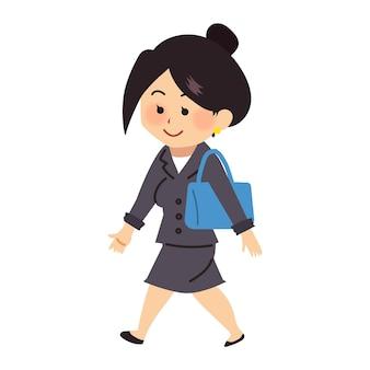 일하러 가는 비즈니스 일하는 여성