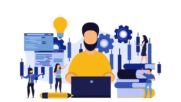 Business workshop person man concept illustration design.