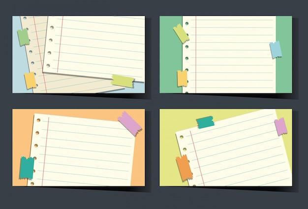 Linepaper 배경으로 명함 서식 파일