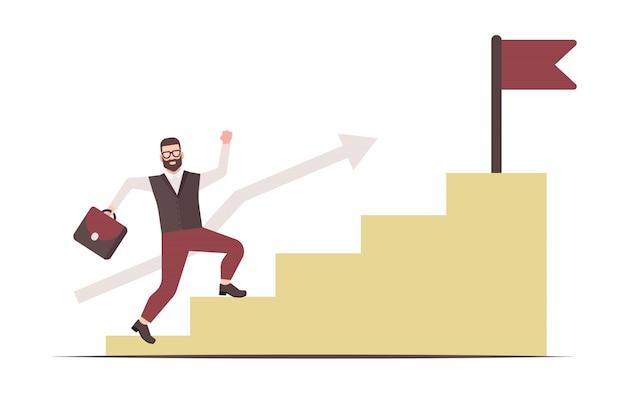企業は成功のはしごを登ります