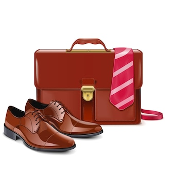 Businessman accessories isolated on white background