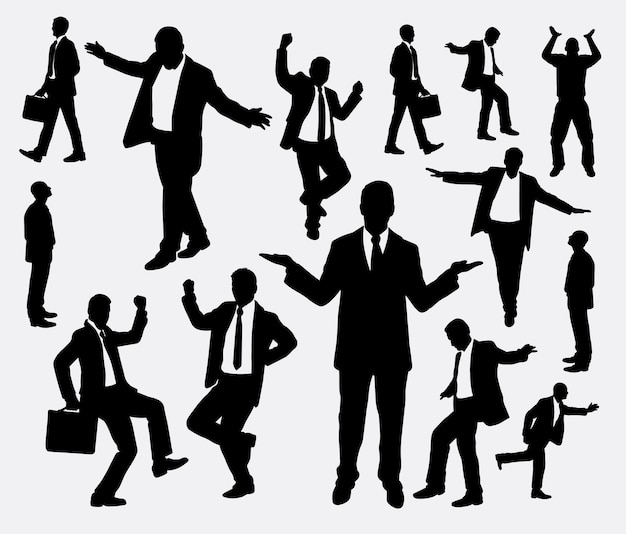 Businessman action silhouette