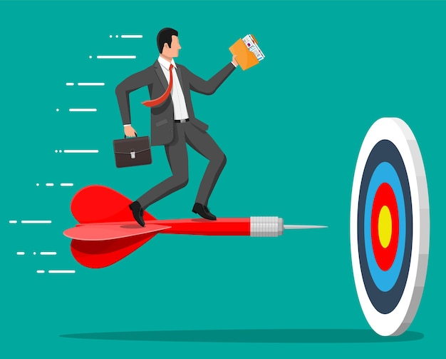 사업가 목표 화살표를 목표로 합니다.