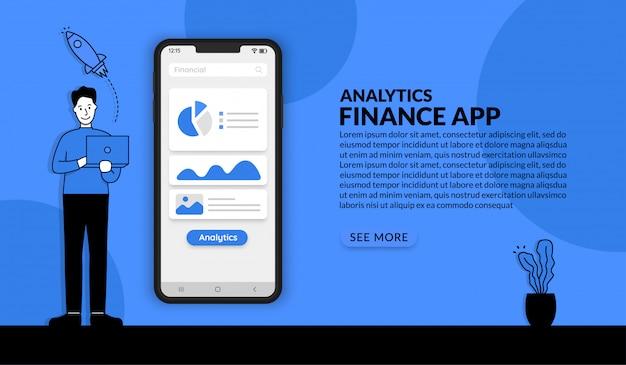 ビジネスマン分析財務グラフ、ビジネスデータ可視化技術 Premiumベクター