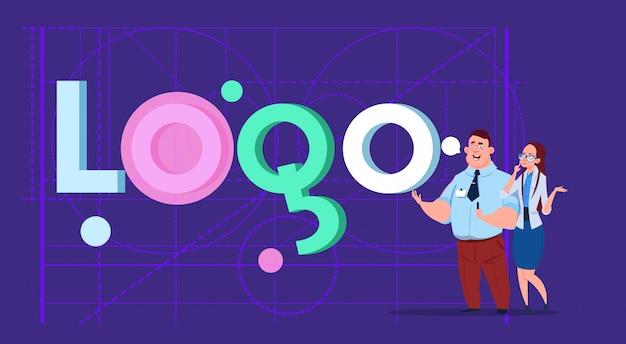 로고 단어 창조적 인 그래픽 디자인을 통해 사업가 사업가 디자이너