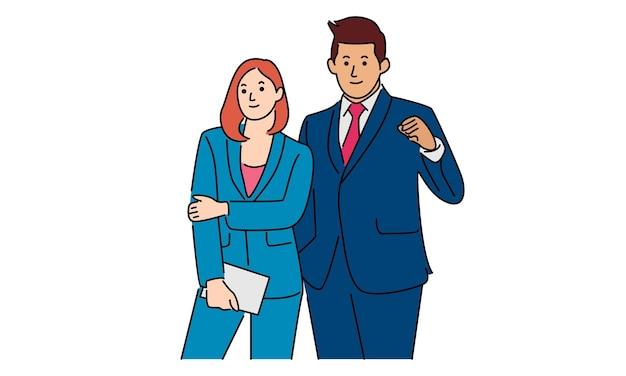 Бизнесмен и деловые женщины