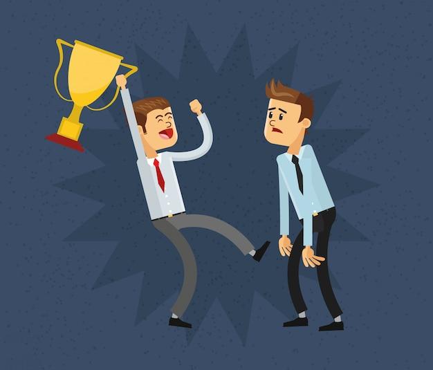 Значок бизнесмена и трофеев