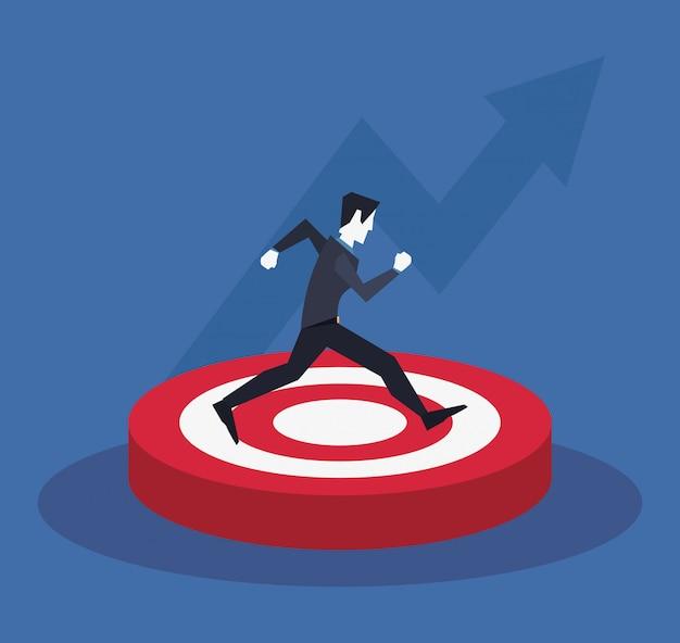 Businessman arrows success
