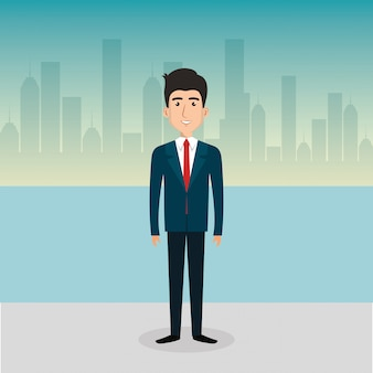 Businessman avatar character