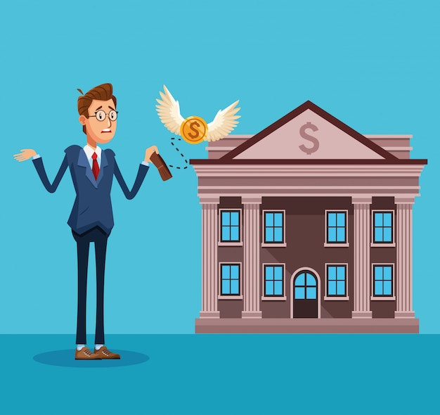 Businessman banker cartoon