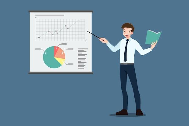 ビジネスマンのブリーフィングとディスカッション分析。