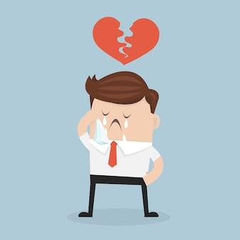 Businessman broken heart.