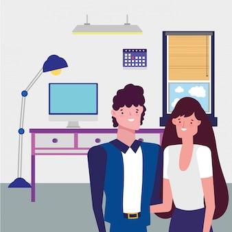 Businessman and businesswoman avatar