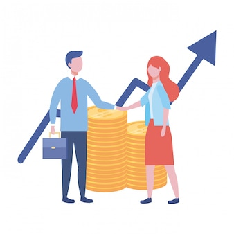 Businessman and businesswoman design vector illustration