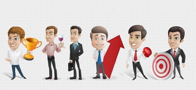 ビジネスマンの漫画のキャラクターpsd