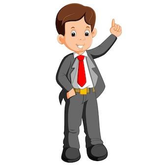 Представление бизнесмена мультфильма