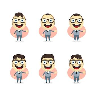Businessman cartoon set theme vector art illustration