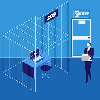 Бизнесмен пойман в ловушку концепции векторные иллюстрации в плоский
