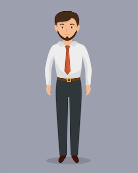 Businessman character avatar isolated