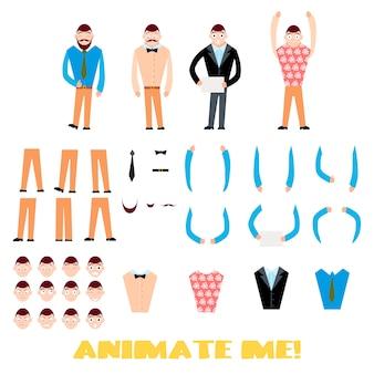 Businessman character creation set.