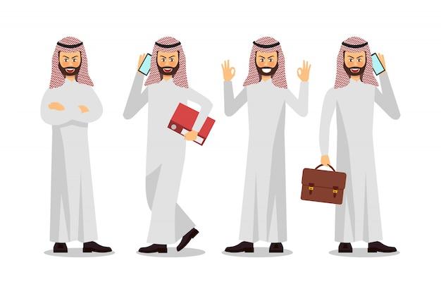 Businessman character design, muslim businessman.