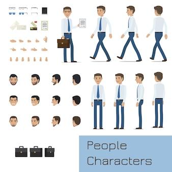 Businessman character generator