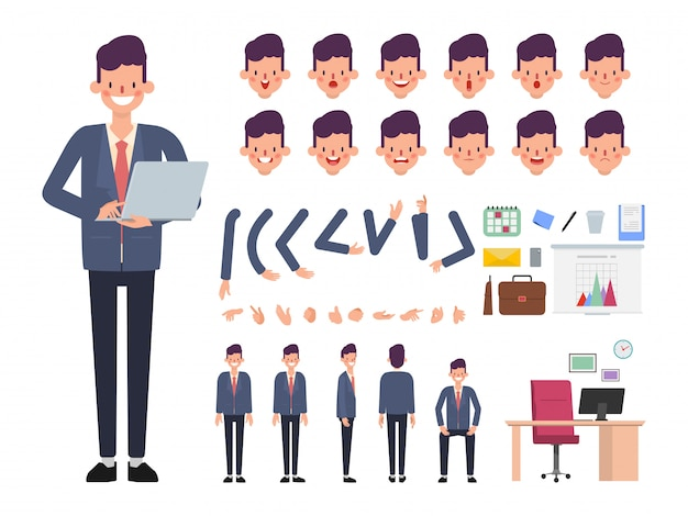 Businessman character ready for animated.
