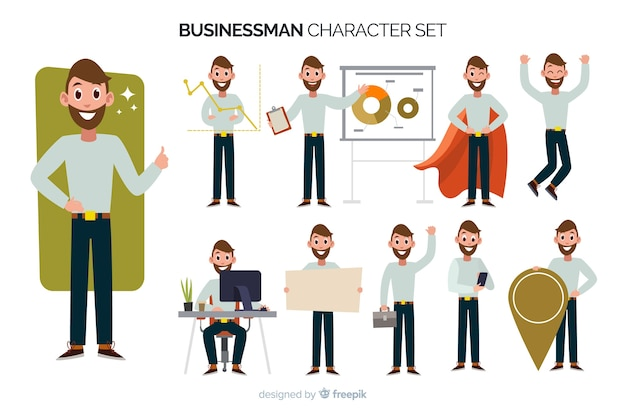 Businessman character set