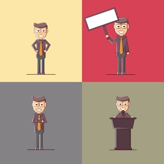 Businessman characters collection