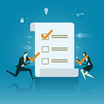 Businessman checklist.