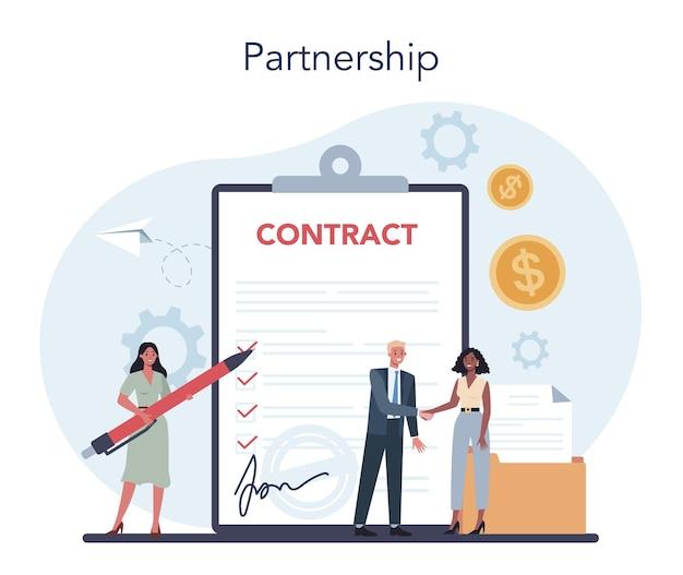 사업 개념입니다. 파트너십의 전략과 성공에 대한 아이디어. 목표와 성공의 열쇠. 브레인 스토밍 및 비즈니스 솔루션.