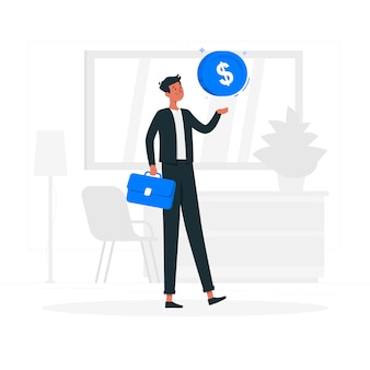 Businessman concept illustration