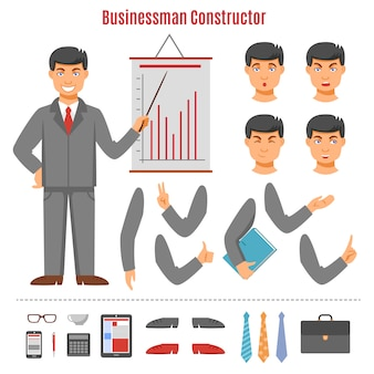 Businessman constructor set