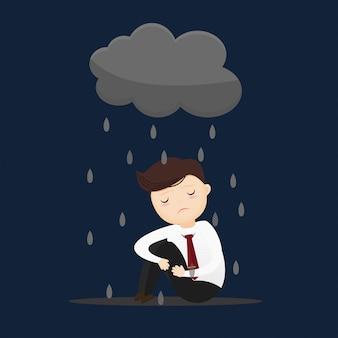 Businessman depressed concept.