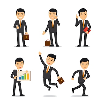 Businessman in different poses