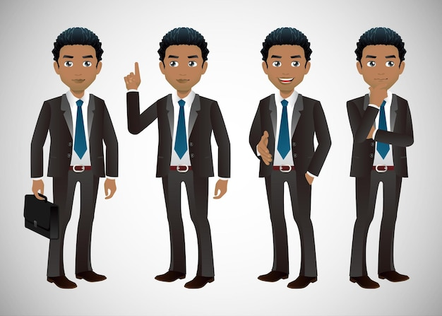 Businessman in different positions