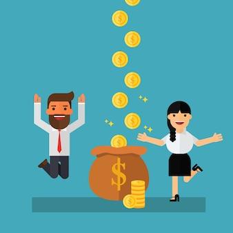 Businessman earns more money