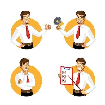 Бизнесмен персонаж продавец дизайн персонажей