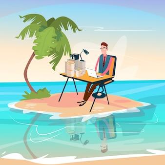 Businessman freelancer remote worker man