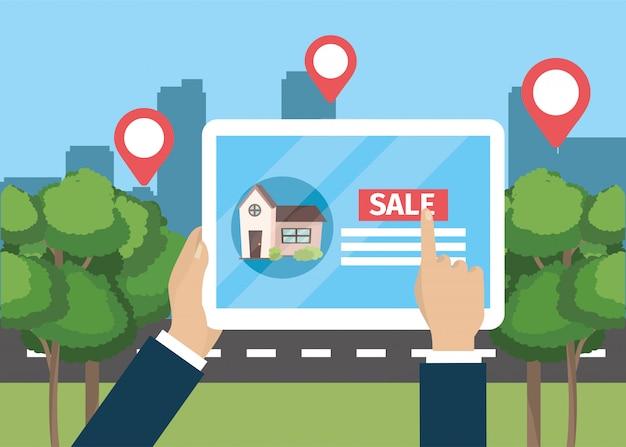 태블릿 하우스 속성 판매 사업 손