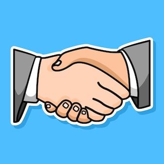 Бизнесмен рукопожатие мультфильм назн