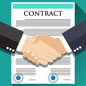 Рукопожатие бизнесмена по контракту