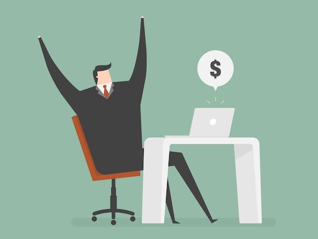 Businessman happy design