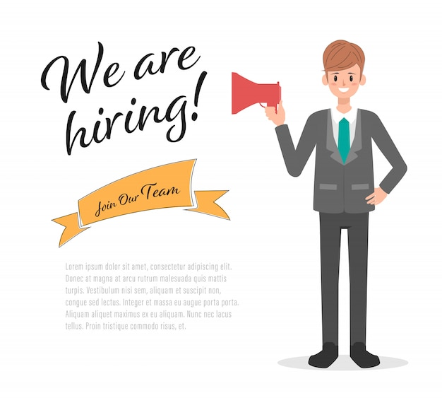 Businessman in hiring concept manager.