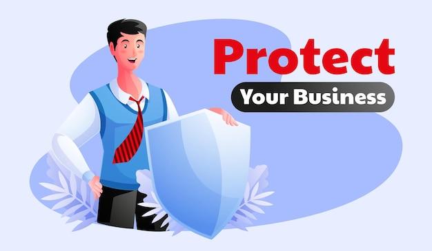 방패 보호 사업 개념을 잡고 사업