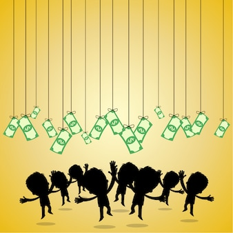 사업가 돈을 점프