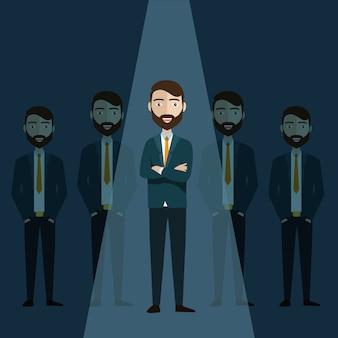 Businessman of leader