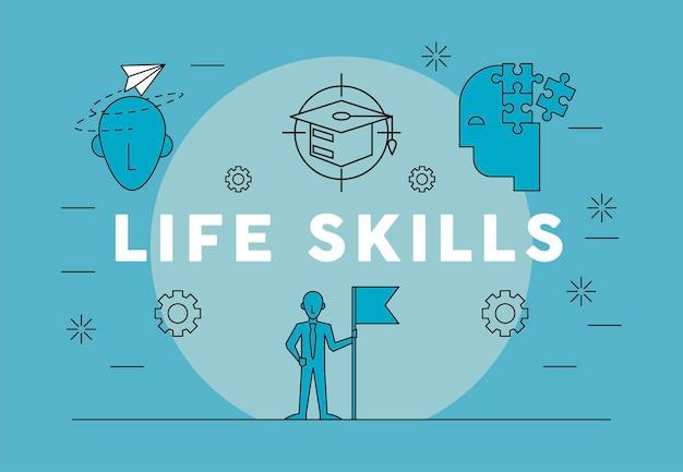 Businessman life skills
