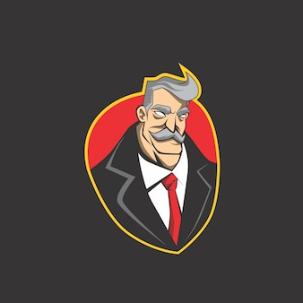 Businessman logo